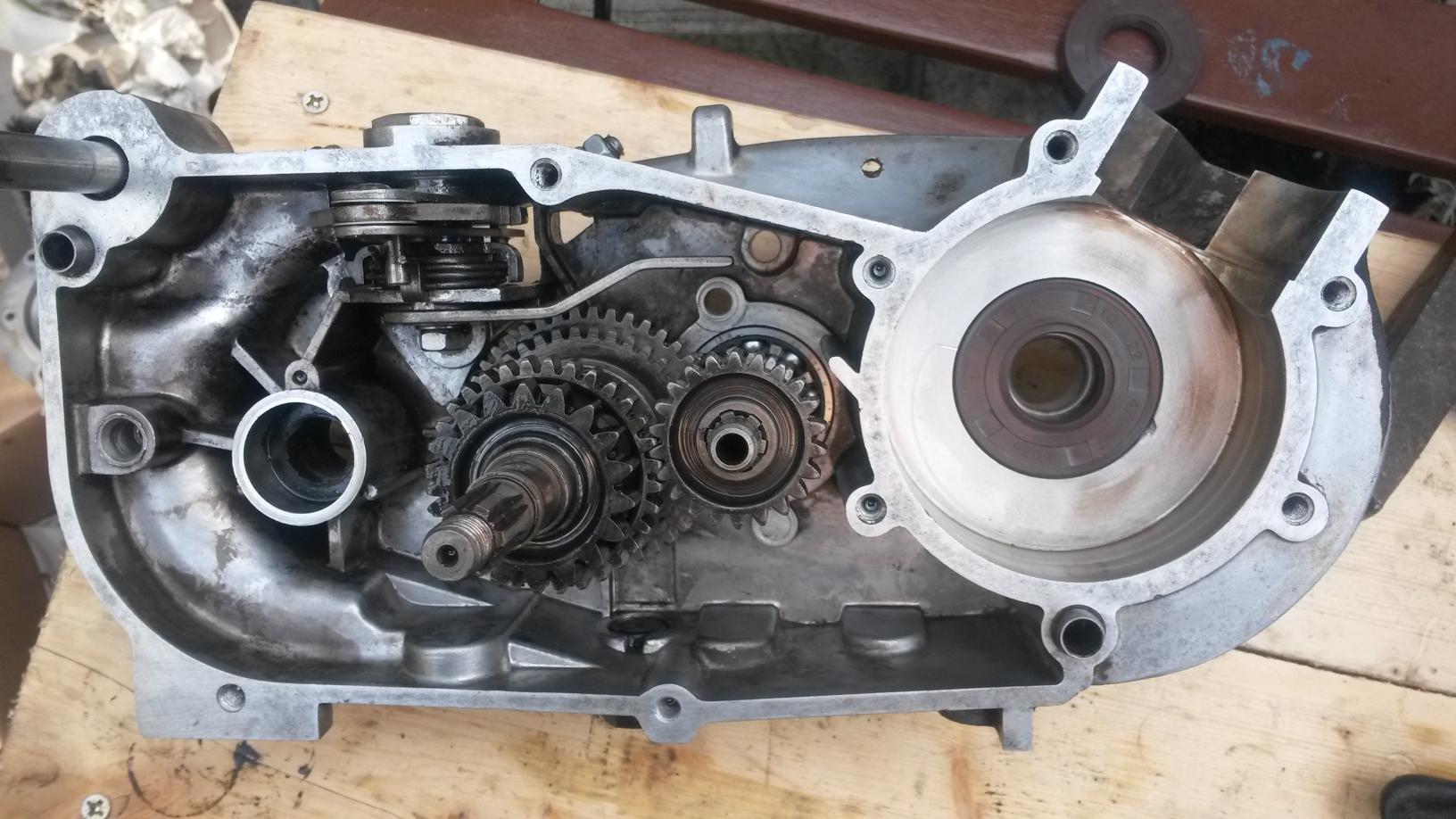 Getriebe eingebaut