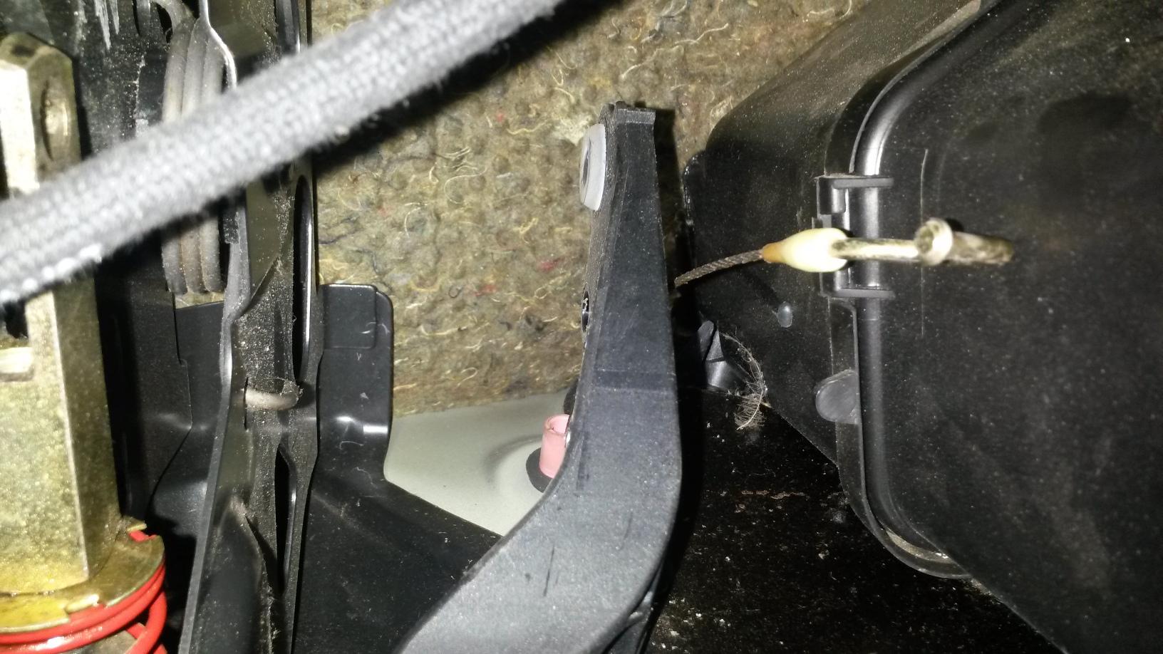 Gaszug Aushängen